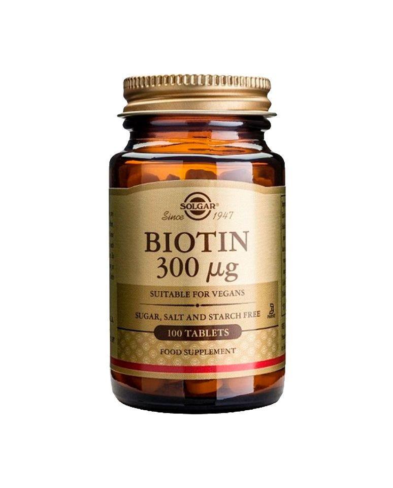 Biotina 300 Μg Solgar 100Uds
