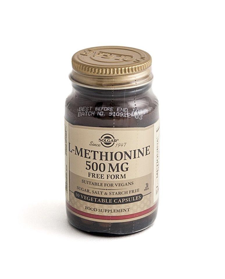 L-Metionina De 500 Mg Solgar 30Uds