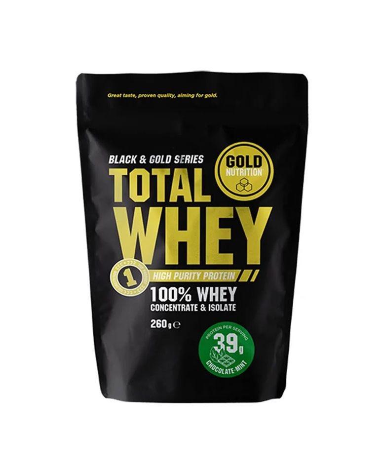 Total Whey Proteína Frambuesa Y Plátano Goldnutrition 260G
