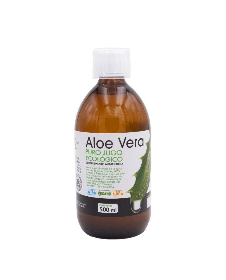 Aloe Vera Jugo Puro Ecológico Bio Cesta 500Ml